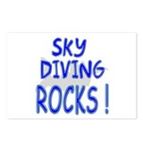 Sky Diving Rocks ! Postcards (Package of 8)