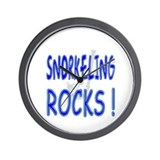 Snorkeling Rocks ! Wall Clock