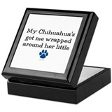 Wrapped Around Her Paw (Chihuahua) Keepsake Box