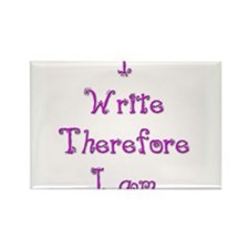 I Write Therefore I Am 2 Rectangle Magnet (100 pac