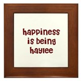 happiness is being Haylee Framed Tile