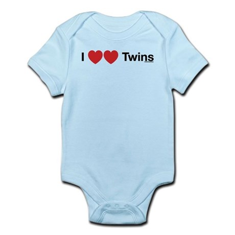 I Love Twins Infant Bodysuit