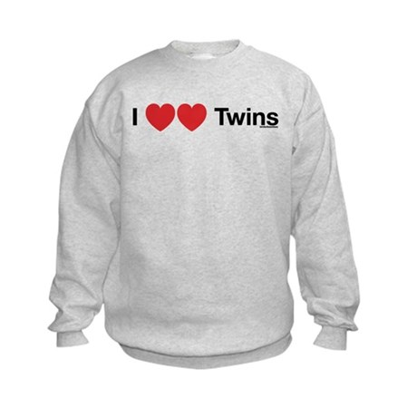 I Love Twins Kids Sweatshirt