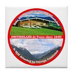 Peace in Switzerland Tile Coaster