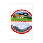 Peace in Switzerland Rectangle Sticker
