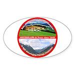 Peace in Switzerland Oval Sticker