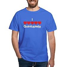 I Love Quintuplets T-Shirt