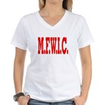 M.F.W.I.C. Women's V-Neck T-Shirt