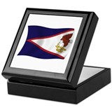 American Samoa Flag Keepsake Box