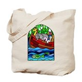 Noah's Ark Stained Glass Tote Bag