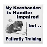Keeshonden Agility Tile Coaster