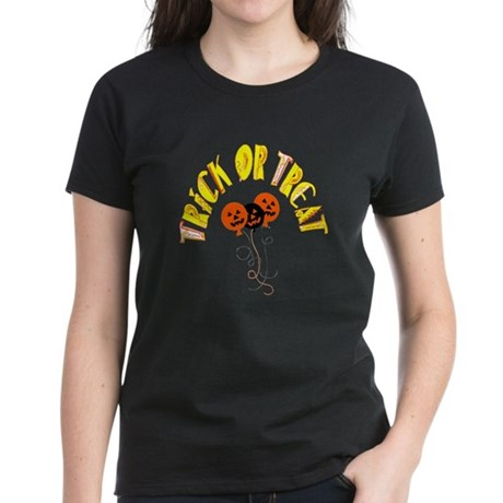 Trick or Treat Pumpkins Women's Dark T-Shirt