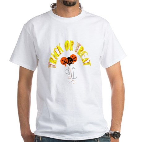 Trick or Treat Pumpkins White T-Shirt
