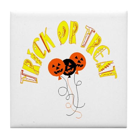 Trick or Treat Pumpkins Tile Coaster