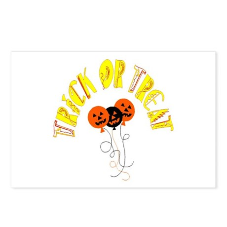 Trick or Treat Pumpkins Postcards (Package of 8)