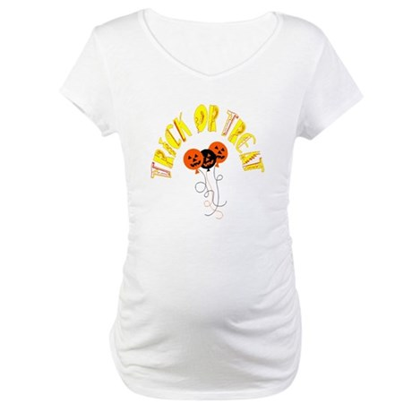 Trick or Treat Pumpkins Maternity T-Shirt