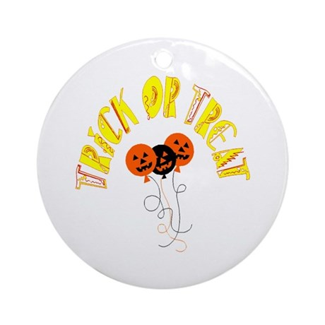 Trick or Treat Pumpkins Ornament (Round)