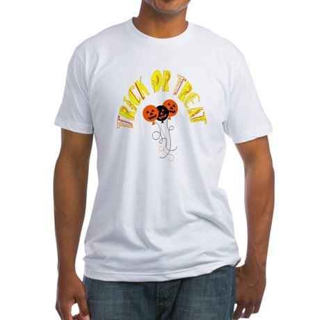 Trick or Treat Pumpkins Fitted T-Shirt