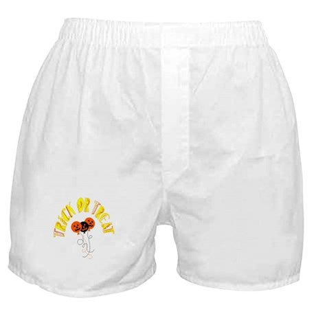 Trick or Treat Pumpkins Boxer Shorts