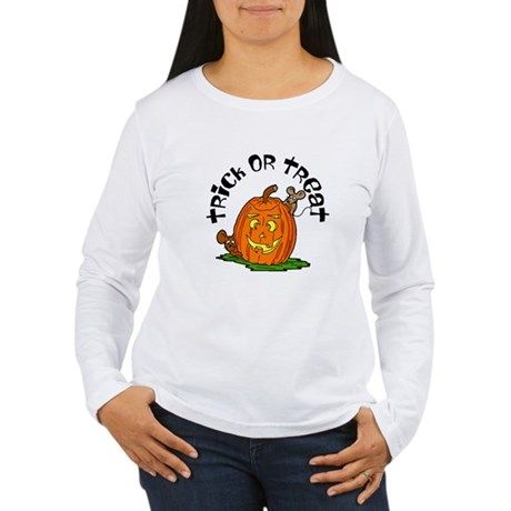Pumpkin Mice Women's Long Sleeve T-Shirt