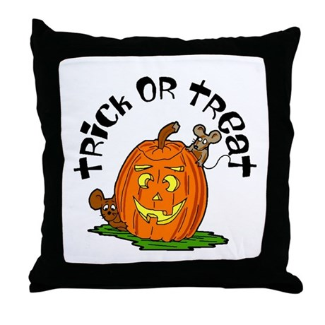 Pumpkin Mice Throw Pillow