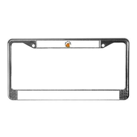 Pumpkin Mice License Plate Frame