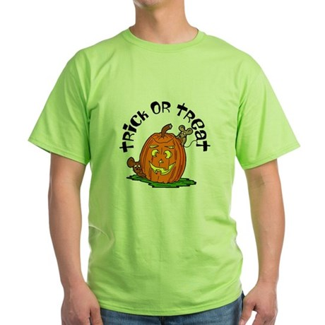 Pumpkin Mice Green T-Shirt
