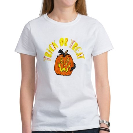 Jack o Lantern Cat Women's T-Shirt