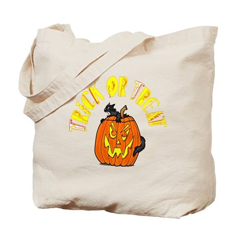Jack o Lantern Cat Tote Bag