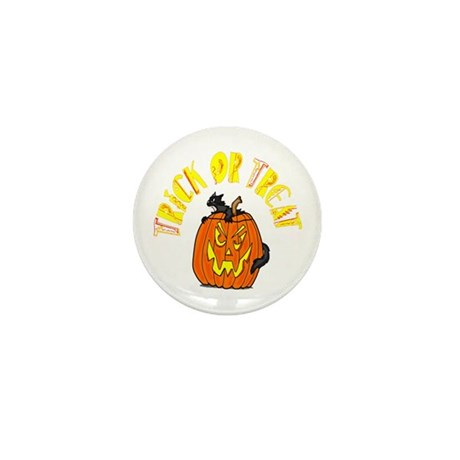 Jack o Lantern Cat Mini Button (100 pack)
