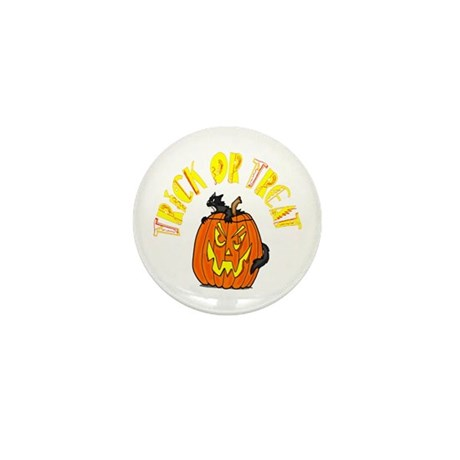 Jack o Lantern Cat Mini Button