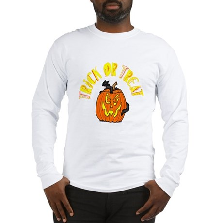 Jack o Lantern Cat Long Sleeve T-Shirt