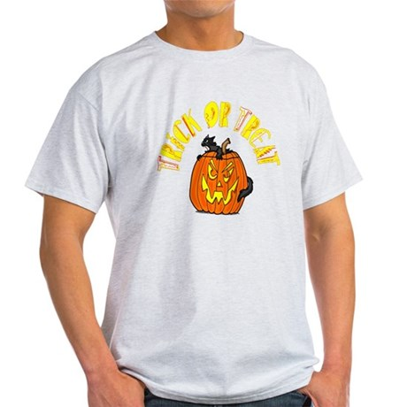 Jack o Lantern Cat Light T-Shirt