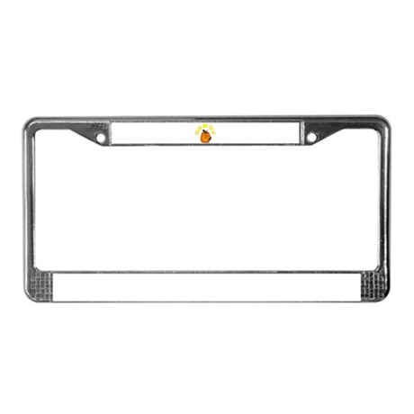 Jack o Lantern Cat License Plate Frame