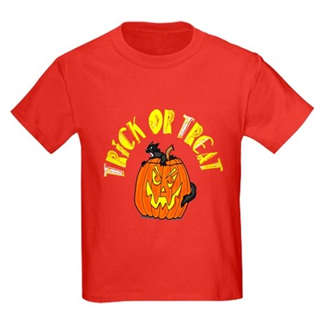 Jack o Lantern Cat Kids Dark T-Shirt