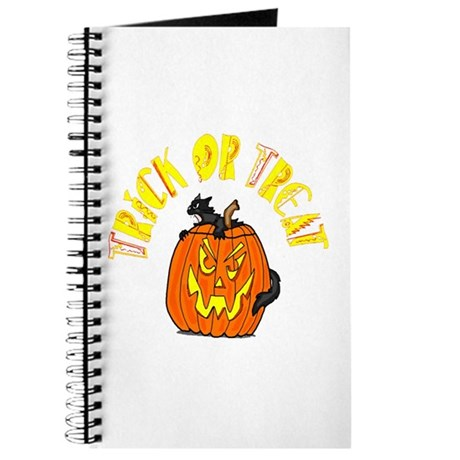 Jack o Lantern Cat Journal