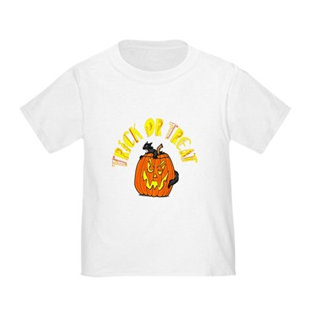 Jack o Lantern Cat Toddler T-Shirt