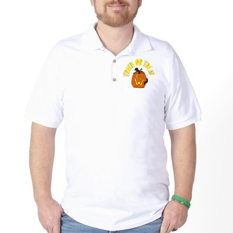 Jack o Lantern Cat Golf Shirt