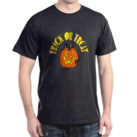 Jack o Lantern Cat Dark T-Shirt