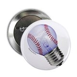 "Baseball Lightbulb 2.25"" Button (100 pack)"