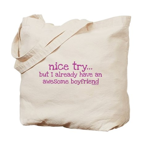 My BoyFriend is Awesome Tote Bag