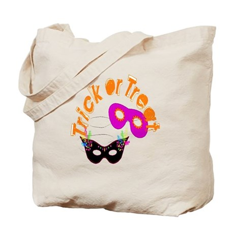 Trick or Treat Masks Tote Bag