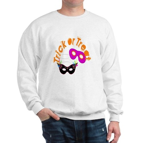 Trick or Treat Masks Sweatshirt