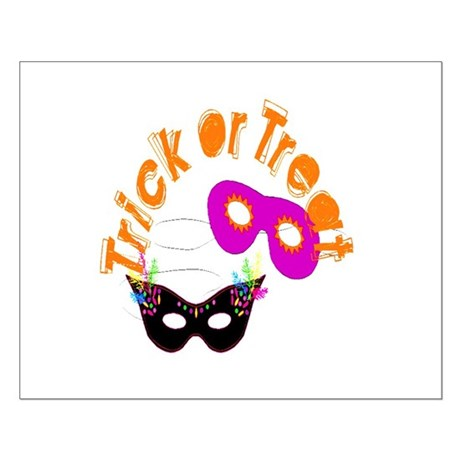 Trick or Treat Masks Small Poster