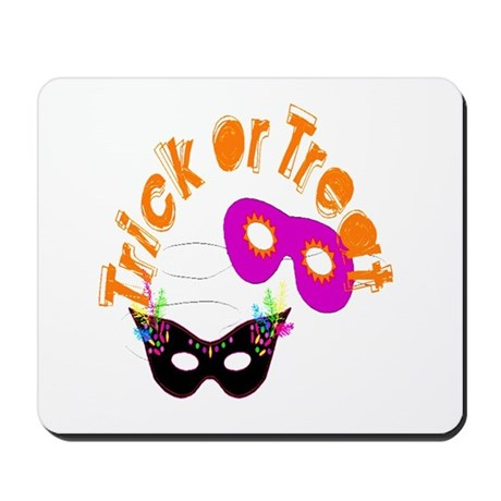 Trick or Treat Masks Mousepad