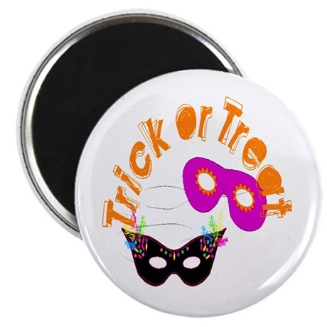 "Trick or Treat Masks 2.25"" Magnet (10 pack)"