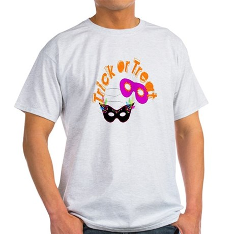 Trick or Treat Masks Light T-Shirt