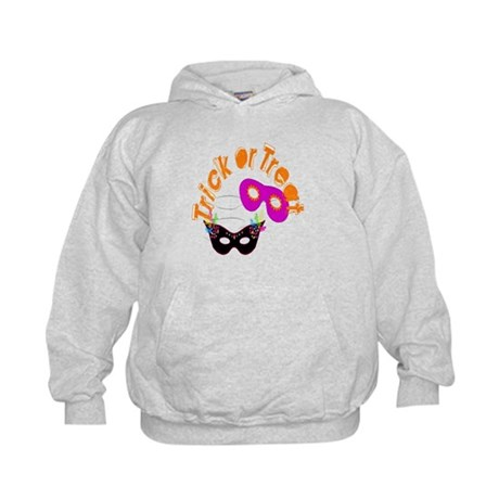 Trick or Treat Masks Kids Hoodie