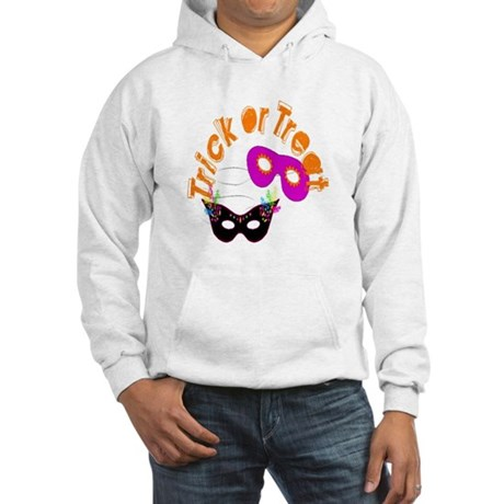 Trick or Treat Masks Hooded Sweatshirt