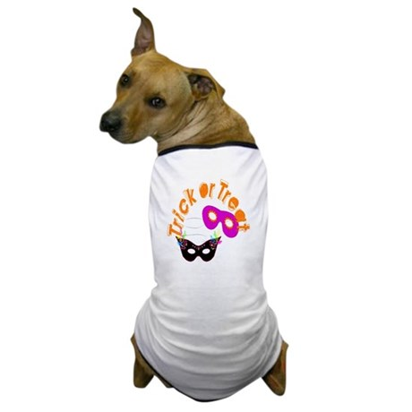 Trick or Treat Masks Dog T-Shirt
